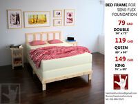 BEST PRICE HANDMADE bed frame for boxspring!