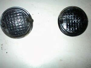 2 USED 1955 OLDS REAR BACKUP LITE PLUGS WERE CHROME $8