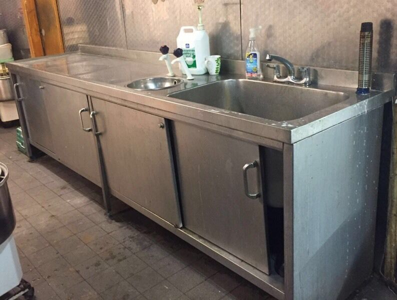 stainless steel commercial catering kitchen takeaway canteen cafe