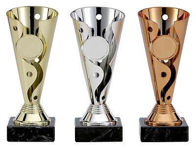 Pokal 3er Serie League Pokale gold silber bronze incl. Gravur --PREISSENKUNG--