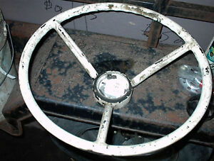 USED 1957,58 FORD STEERING WHEEL NEEDS PAINTING,RESTO $10