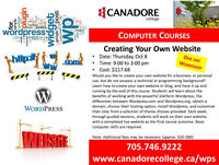 Canadore College, Parry Sound - Creating your Own Website