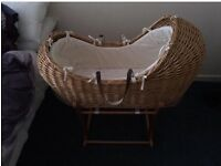 moses basket and stand from mothercare