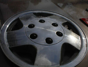 "1 ONLY 16"" CHEV GMC STYLE CHROME ABS WHEEL DISC 6 SPOKE $4"