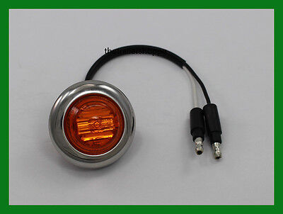 """Maxxima Marker Clearance 6 LED light 1-1/4"""" Amber with Stainless Chrome Bezel"""