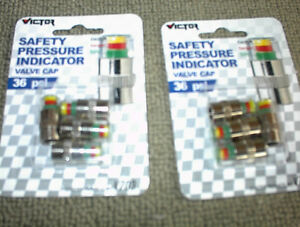 2 NEW SETS OF36 PSI SAFTEY PRESSURE IND VALVE STEM CAPS $5E