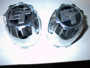 "2 NEW CHROME ET LOGO NEWER STYLE ABS 3/38"" PUSH THRU CAPS$10E"