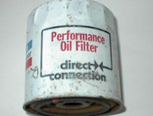 NEW ORIGINAL  MOPAR DIRECT CONNECTION LITHO OIL FILTER 1970S $5.