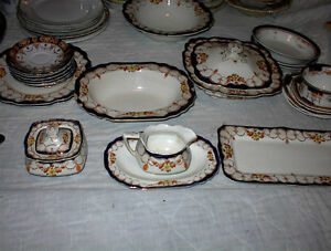 "17 PC OF MYOT.T .SON AND CO""ROSEMARY' PATTERN ENGLSH CHINA$15E"