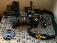 NEW PRICE Nikon D50 dslr with Nikkor AF-S 18-200 f3.5-5.6 DX