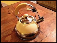 Retro, stove top whistling kettle...