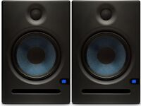 Pair of Presonis Eris e8 active studio monitors speakers