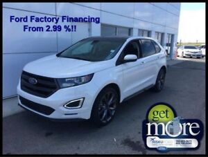 2018 Ford Edge Sport AWD  FACTORY FINANCING FROM 2.99% APR!!