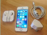 iPhone 5S - 32gb. White/gold. UNLOCKED
