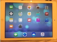 """Apple iPad Air 1st Generation 64GB, Wi-Fi + Cellular (Unlocked), 9.7in - Silver, """"AS"""" engraved"""