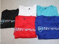Bulk T-shirts available Men's Short Sleeve Nylon Fitness T-shirt in Size S -L