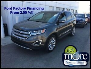 2018 Ford Edge Titanium AWD  FINANCING FROM 2.99% APR!!