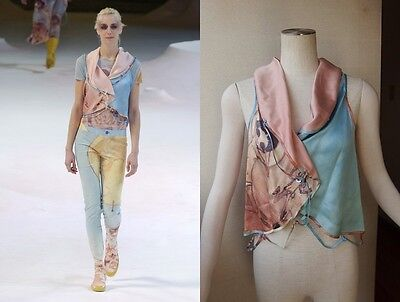 """ISSEY MIYAKE x AYA TAKANO (Kaikai Kiki Artist) """"EARTH"""" DESIGN Silk Vest Blouse A"""