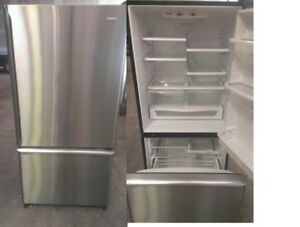 Refrigerator Bottom Freezer Stainless Steel Durham Appliances