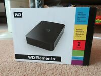 2TB Western Digital Elements External Hard Drive: Never opened!