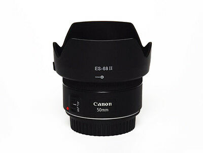 ES-68 II Replacement Hood For Canon EOS EF 50mm f/1.8 STM 49mm lens - UK (Canon Ef 50mm F 1-8 Ii Stm)