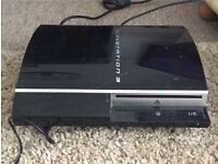 Black 40GB Sony PS3 with 2 controllers