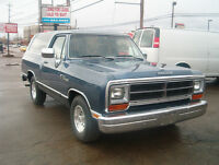 TRADES OK 1989 DODGE RAM CHARGER 2WD RARE