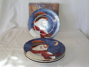 New, Winterlude snowman plates Cornwall Ontario image 1