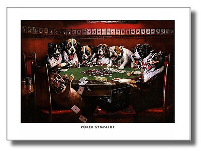 (Dogs Play Poker #3 Sympathy Cassius Coolidge Wall Art Print Picture)