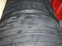 2 tires Bridgestone Potenza RE050A 305/30 ZR 19 used.
