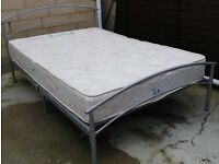 Double bed mattress with frame can deliver