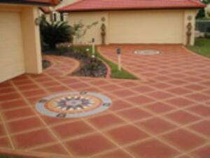 DECORATIVE SPRAY PAVING - NO EXPERIENCE REQUIRED Coffs Harbour Area Preview