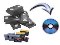 Edmonton - VHS, Minidv, 8mm film to DVD Transfer Conversion