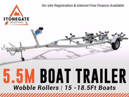 Braked 5.5 Meter Boat Trailer 1500kg ATM | STOCK CLEARANCE SALE
