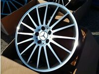 "BRAND NEW 19"" MERCEDES AMG C63 STYLE ALLOY WHEELS STAGGERED 5X112 (C/E/S CLASS)"