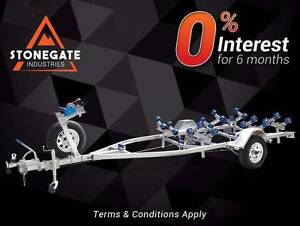 4 Metre Wobble Rollers Boat Trailer with Disc Brakes | ATM 1200KG Virginia Brisbane North East Preview
