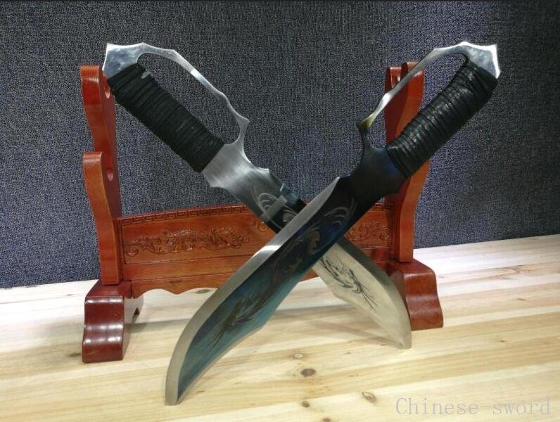 Wing Chun--Manganese steel blade  Dao Knives knife Short sword pattern steel