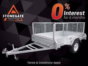 All New 8x5 Box Trailer with 900mm High Cage | Hot-dip Galvanised Coopers Plains Brisbane South West Preview