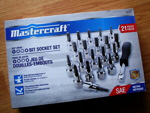 "Mastercraft 3/8"" drive socket set"