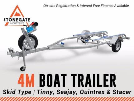 STOCK CLEARANCE SALE 4M Boat Trailer Drive-On Skid Type Tinny