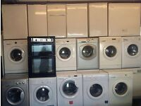 Washing machines fridge freezers cookers tumble dryers 6 month warranty free deliveryv