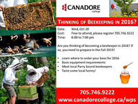 Canadore College, Parry Sound - Thinking of Beekeeping in 2016?