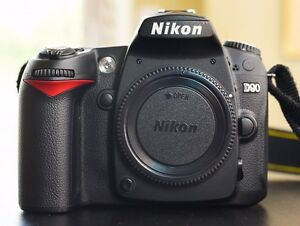 Mint Nikon D90 camera with 35mm 1.8G DX lens