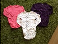 Baby girl long sleeved vests x3 age 18-24months