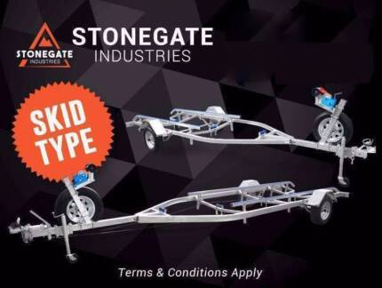 4m / 5.5m Boat Trailer | Skid Type | Wobble Rollers