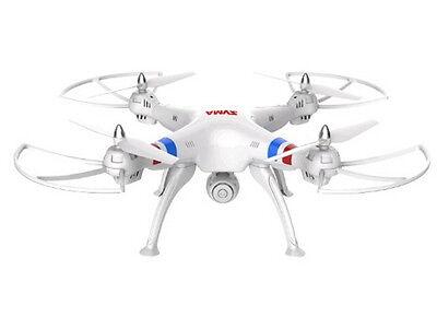 White Syma X8W FPV 2.4Ghz RC Qucopter Drone UVA 2MP Wifi Camera RTF US Seller