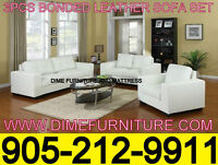 NO TAX MODERN BONDED LEATHER SOFA SET
