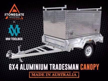 6x4 | 7x4 | 7x5 | 8x5 Tradesman Aluminium Canopy Box Trailer