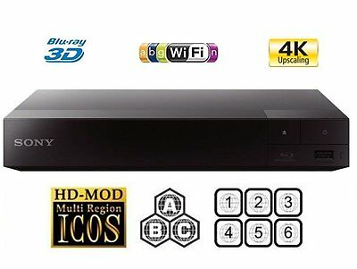 Sony BDP-S6700 Smart 3D Blu-ray Disc Player 4k Upscale - Multiregion Blu-ray+DVD