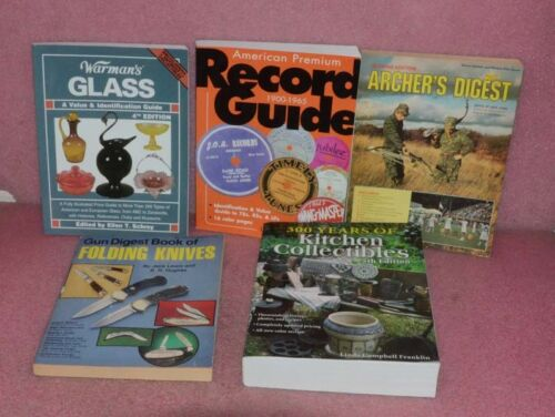 5 Book Lot_Kitchen Collectibles_Record Guide_Warman